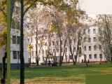 A panoramic view of the Moscow Training Center assembled from four snapshots taken in Fall 1995